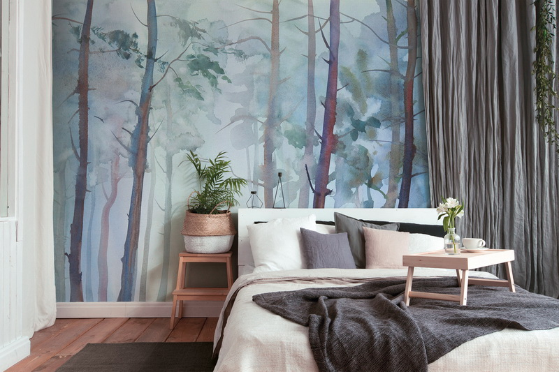 Mural Aquarelle Forest DD118801